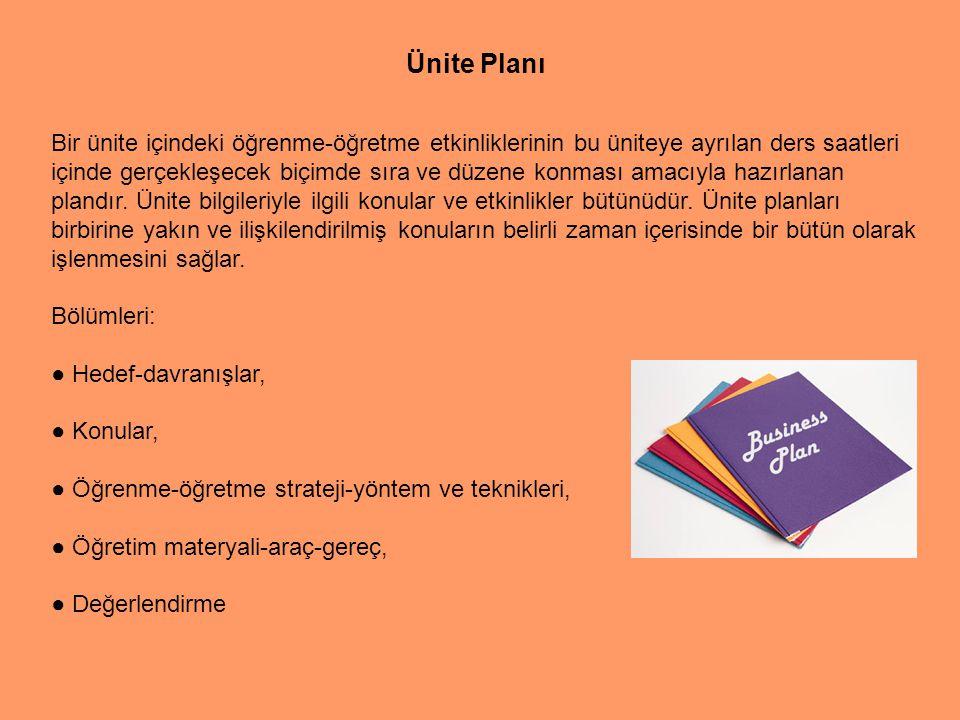 Bir günde ya da bir derste yapılacak bütün öğretim etkinliklerinin tasarlandığı plandır.
