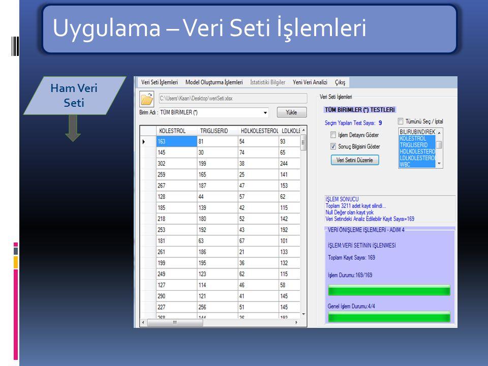 Uygulama – Veri Seti İşlemleri Belirleyici Faktörler