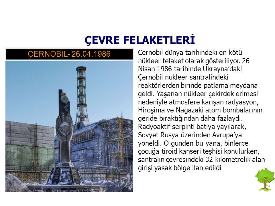 Çernobil dünya tarihindeki en kötü nükleer felaket olarak gösteriliyor. 26 Nisan 1986 tarihinde Ukrayna'daki Çernobil nükleer santralindeki reaktörler