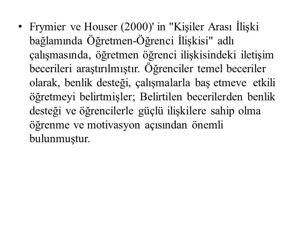Frymier ve Houser (2000)' in