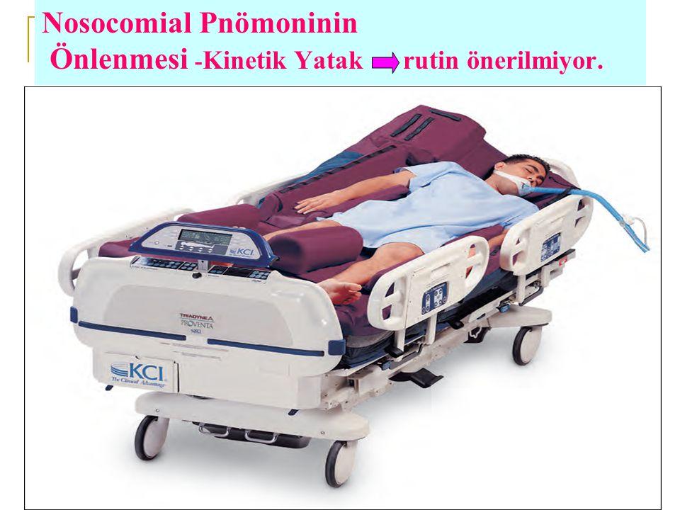 Nosocomial Pnömoninin Önlenmesi - Kinetik Yatak rutin önerilmiyor.