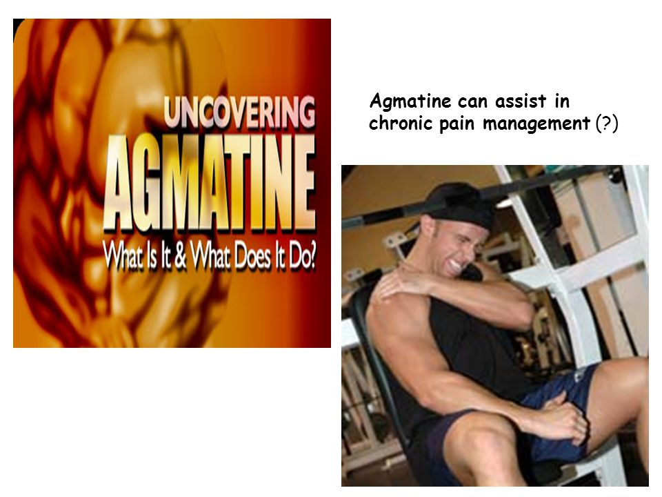 Agmatine can assist in chronic pain management (?)