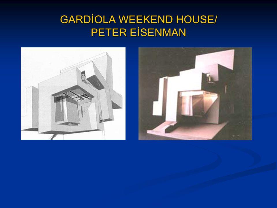 WEXNER CENTER FOR THE VİSUAL ARTS / PETER EİSENMAN Sanatcının tasarlamış olduğu ilk kamu yapısıdır.