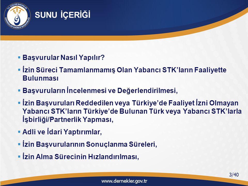İKİNCİ BÖLÜM (Türkiye'de Faaliyetine İzin Verilen Yabancı STK'ların İzin Sonrası Faaliyetleri ve Yasal Yükümlülükleri)  Başvuru Sonucunun Yabancı STK'ya Bildirilmesi,  Yabancı STK Temsilciliklerinde Yetki Devri,  Temsilcinin Değiştirilmesi,  İzin Verilen Yabancı STK'nın Faaliyet Bölgesi,  Temsilciliğin/Şubenin Bulunduğu İl ile Faaliyet Bölgesinin Farklı Olması,  Bakanlığın İzin Yazısında Geçen Türkiye'de … İbaresi Ne Anlam İfade Etmektedir.