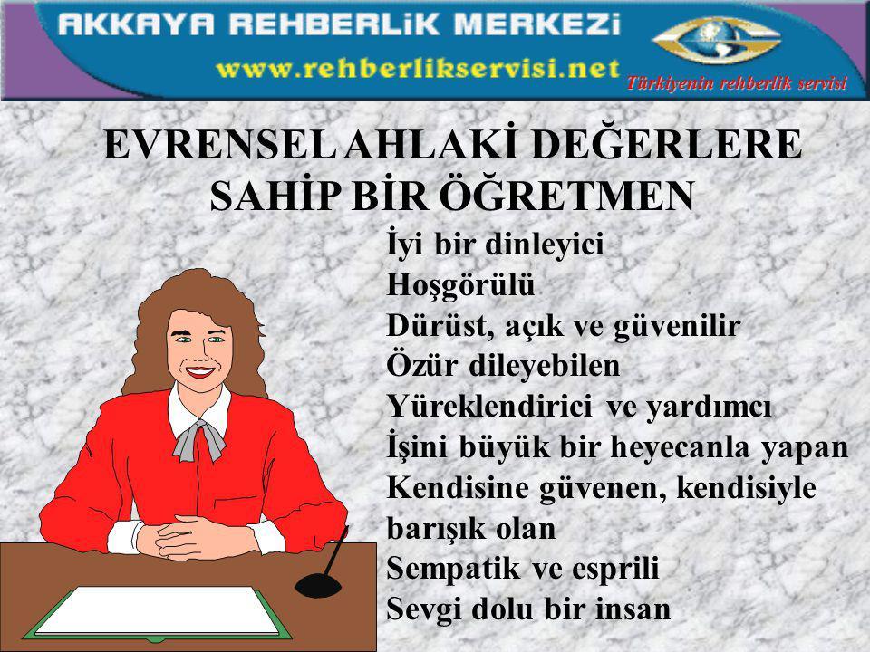 NEDEN SİZ DE OLMAYASINIZ WONDERFUL Türkiyenin rehberlik servisi H. İbrahim NİZAM