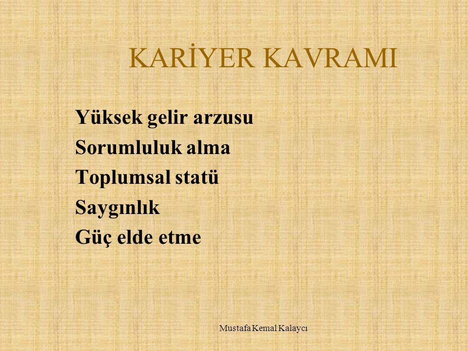 KİŞİLİK ÖZELLİKLERİ  Bireysel vizyon  Kişisel hedefler Mustafa Kemal Kalaycı