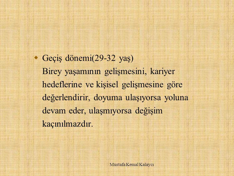 Kariyer Planlamasında Temel Sorumluluklar  Örgütsel sorumluluk  Bireysel sorumluluk  Paylaşılan sorumluluk Mustafa Kemal Kalaycı