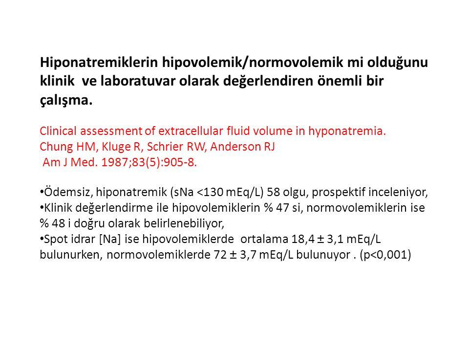 Örnek olgu; 27 yaşında, zayıf görünümlü bayan (A: 48 kg, U: 160 cm), 1 yıldır hdx programında, AKB 140-150/90-100 mmHg, Periferik ödemi yok, BVD yok, HJR negatif, Tele KTI sınırda, KFS ve KDS ler açık, Hdx seansı sırasında gelişen hipotansiyon problemi yok, İnterdiyalitik kilo artışı 1,5-2 kg Losartan 50 mg/gün, doksazosin 4 mg/gün, carvedilol 12,5 mg/gün tx de, 1.