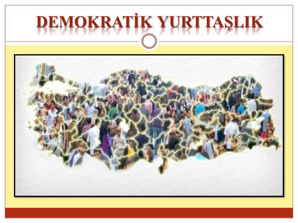 Demokratik Vatandaşlık Eğitimi bir eğitim sürecidir.