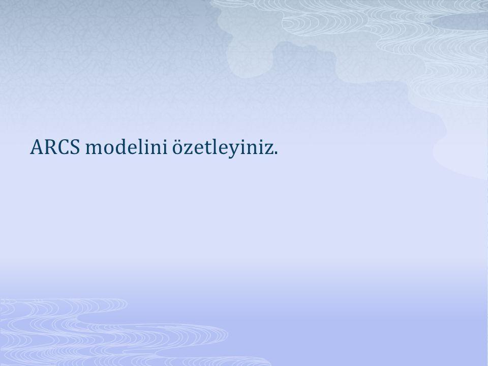 ARCS modelini özetleyiniz.