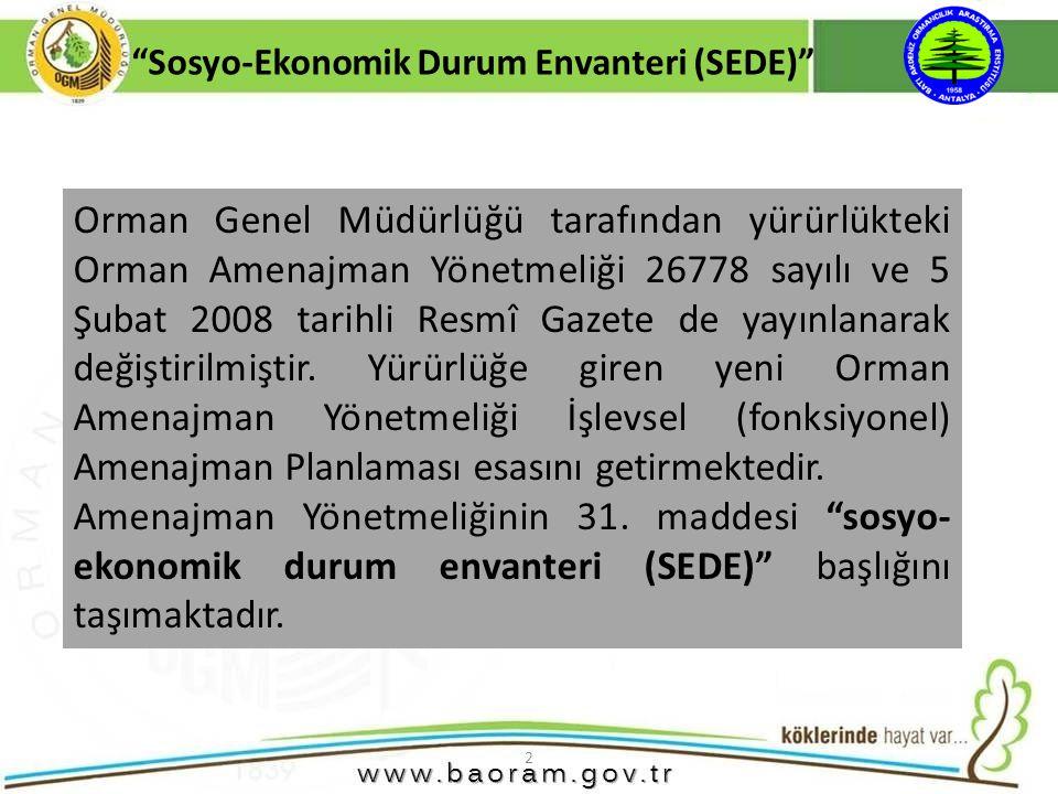 2 Orman Genel Müdürlüğü tarafından yürürlükteki Orman Amenajman Yönetmeliği 26778 sayılı ve 5 Şubat 2008 tarihli Resmî Gazete de yayınlanarak değiştir