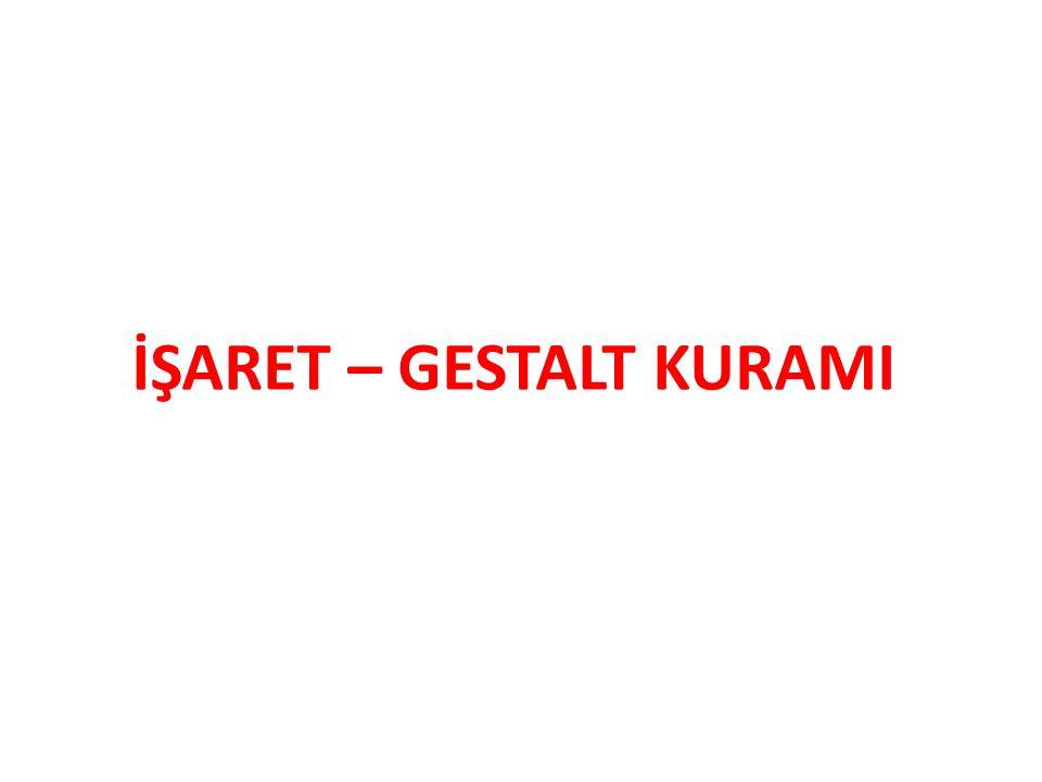 İŞARET – GESTALT KURAMI