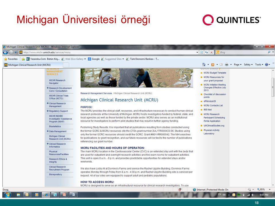 18 Michigan Üniversitesi örneği