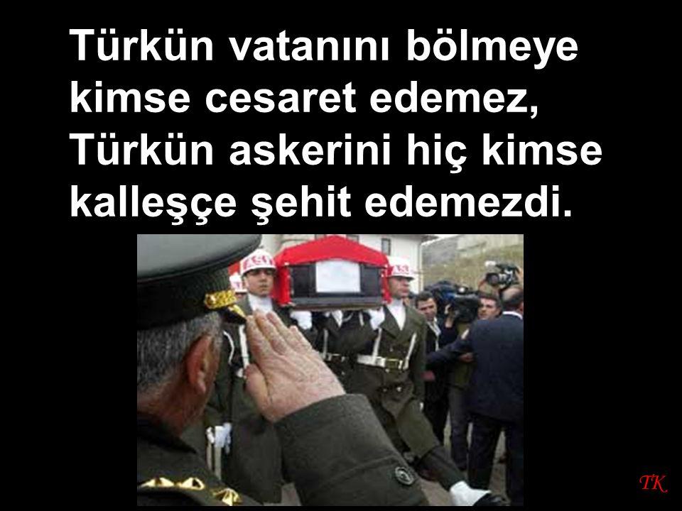 TK Türkün vatanını bölmeye kimse cesaret edemez, Türkün askerini hiç kimse kalleşçe şehit edemezdi.
