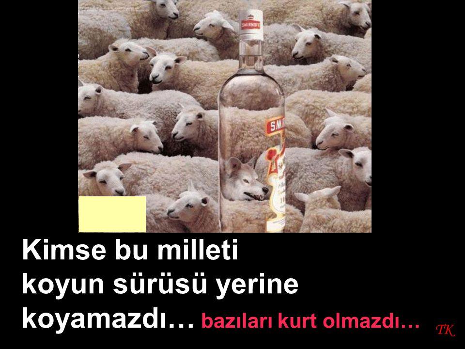 TK Kimse bu milleti koyun sürüsü yerine koyamazdı… bazıları kurt olmazdı…