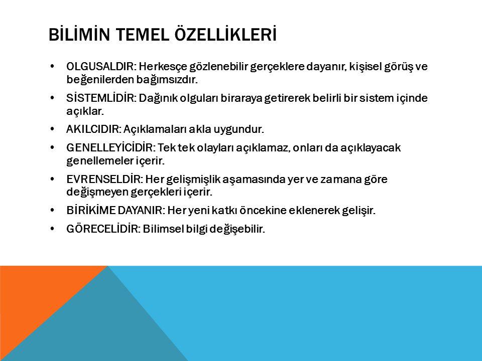 BİLİMSEL ARAŞTIRMANIN AŞAMALARI 1.KONUNUN SEÇİMİ (1 HAFTA) 2.