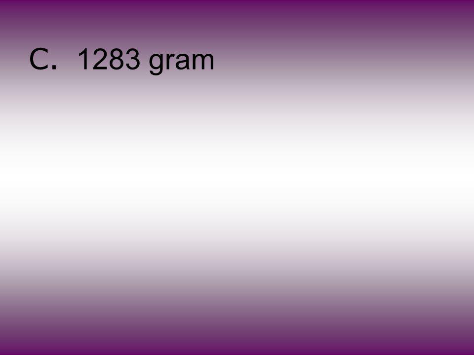 C. 1283 gram