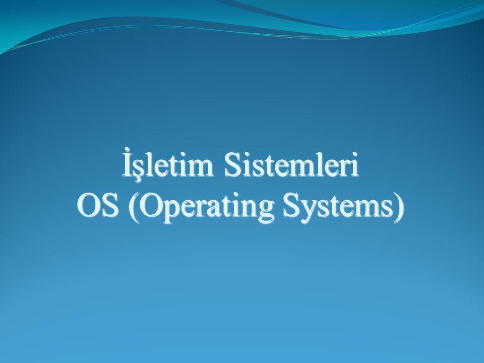 Konu : İşletim Sistemi Kavramı