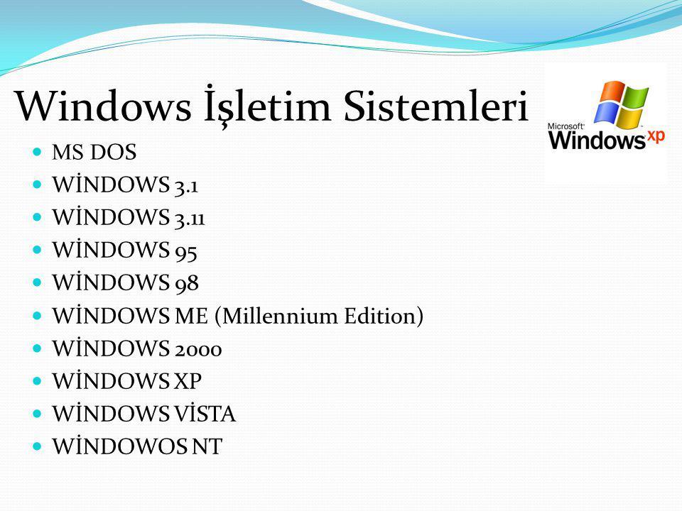WİNDOWS 3.1 Windows 3.1 – Windows işletim sisteminin ilk sürümü 1985 yılında çıkarılmakla birlikte, dünyada kabul görmesi 1992 yılında çıkarılan Windows 3.1 ile olmuştur.