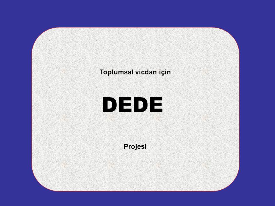 Toplumsal vicdan için DEDE Projesi