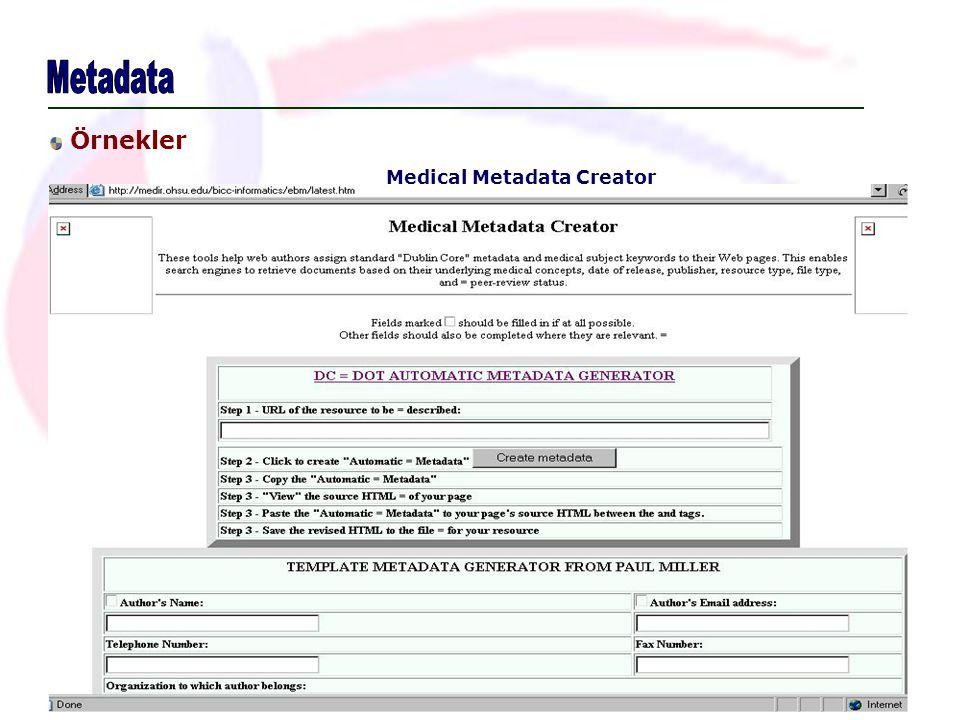Medical Metadata Creator Örnekler