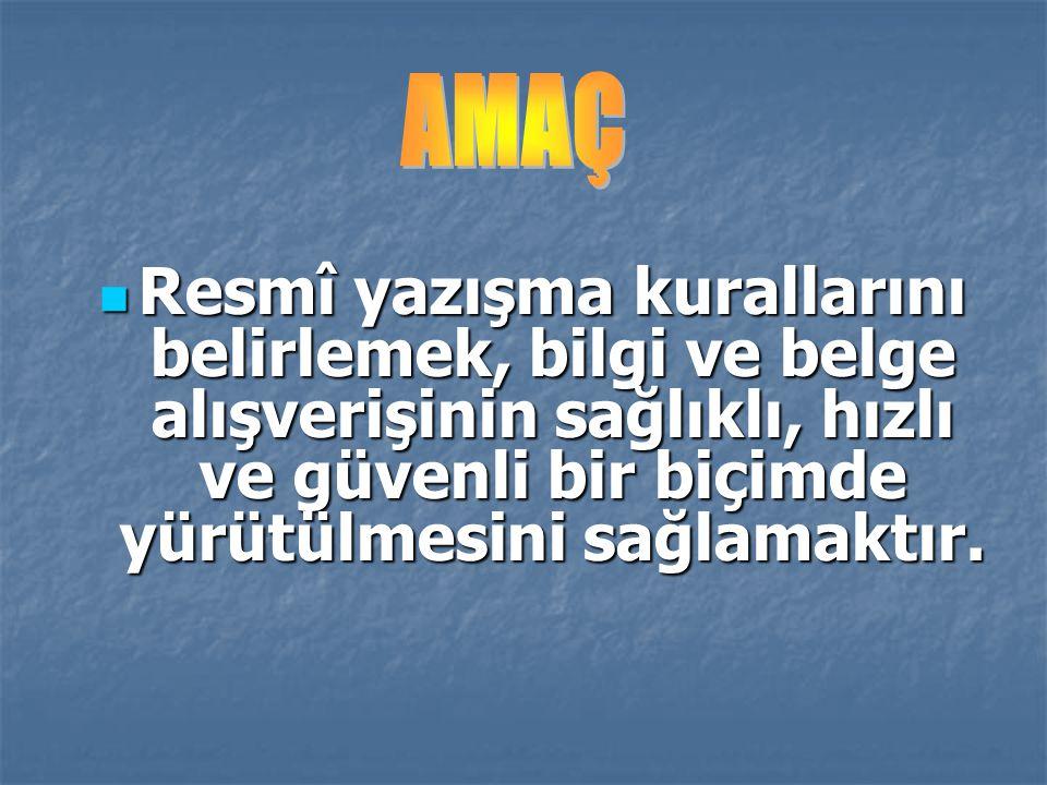 Örnek: Kod Formatı Sayı: B.30.2.CBÜ.0.71.00-000.00.00-00/00 A: Yasama (T.B.M.M.) A: Yasama (T.B.M.M.) B: Yürütme organları ( TRT, YÖK, Atatürk Kültür Dil ve Tarih Yüksek Kurulu, Diyanet İşl.
