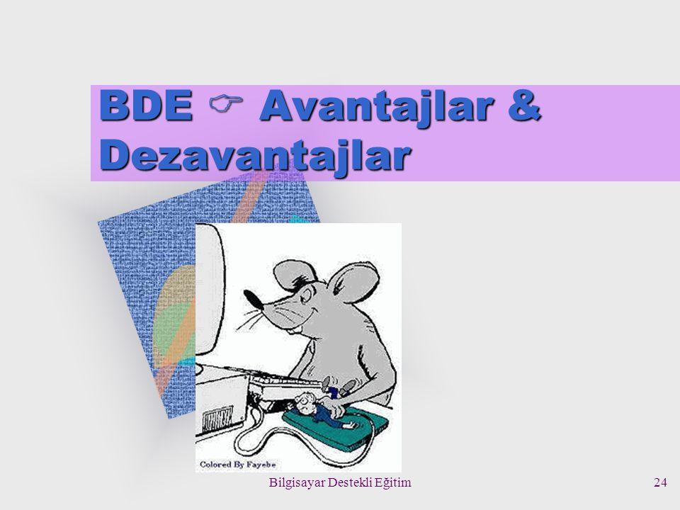 Bilgisayar Destekli Eğitim24 BDE  Avantajlar & Dezavantajlar
