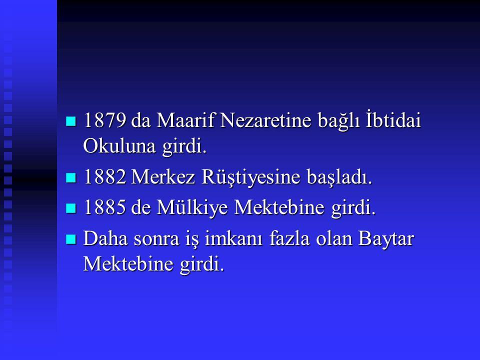 HAYATI 1873-1936 n İstanbulda Fatih Sarıgüzel Mahallesinde doğdu. n Babası Fatih müderrislerinden Mehmet Tahir, n Annesi Emine Şerife Hanımdır. n İlkö