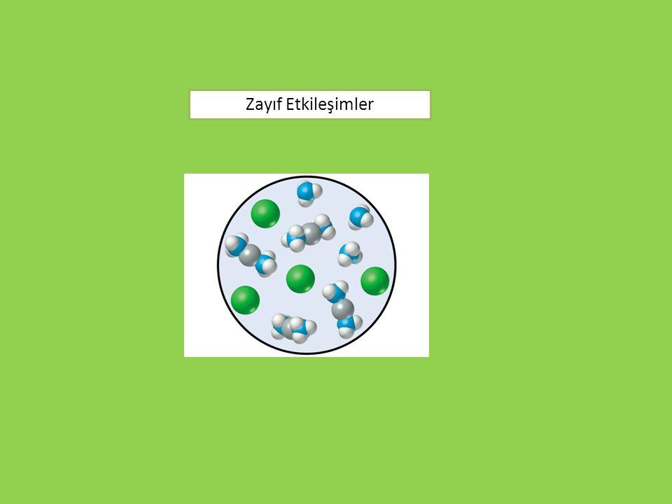 Erime ve kaynama noktaları molekül içi bağlara değil, tanecikler arası etkileşim kuvvetlerine bağlıdır.
