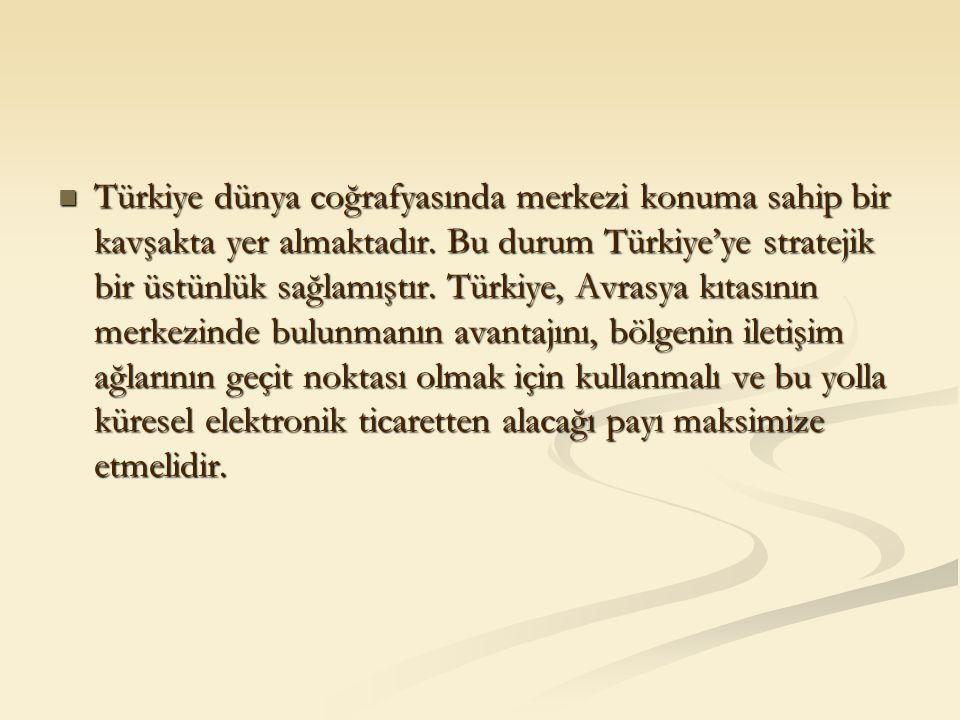 Türkiye dünya coğrafyasında merkezi konuma sahip bir kavşakta yer almaktadır. Bu durum Türkiye'ye stratejik bir üstünlük sağlamıştır. Türkiye, Avrasya