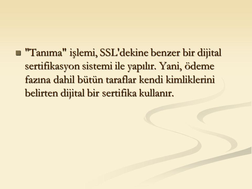 Tanıma işlemi, SSL dekine benzer bir dijital sertifikasyon sistemi ile yapılır.