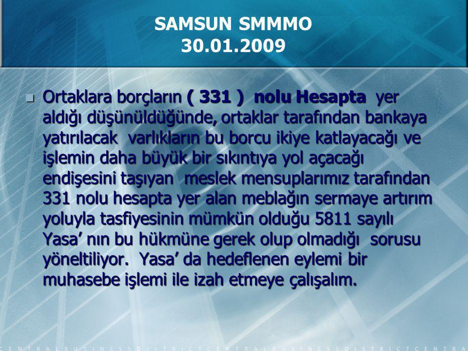 Ortaklara borçların ( 331 ) nolu Hesapta yer aldığı düşünüldüğünde, ortaklar tarafından bankaya yatırılacak varlıkların bu borcu ikiye katlayacağı ve