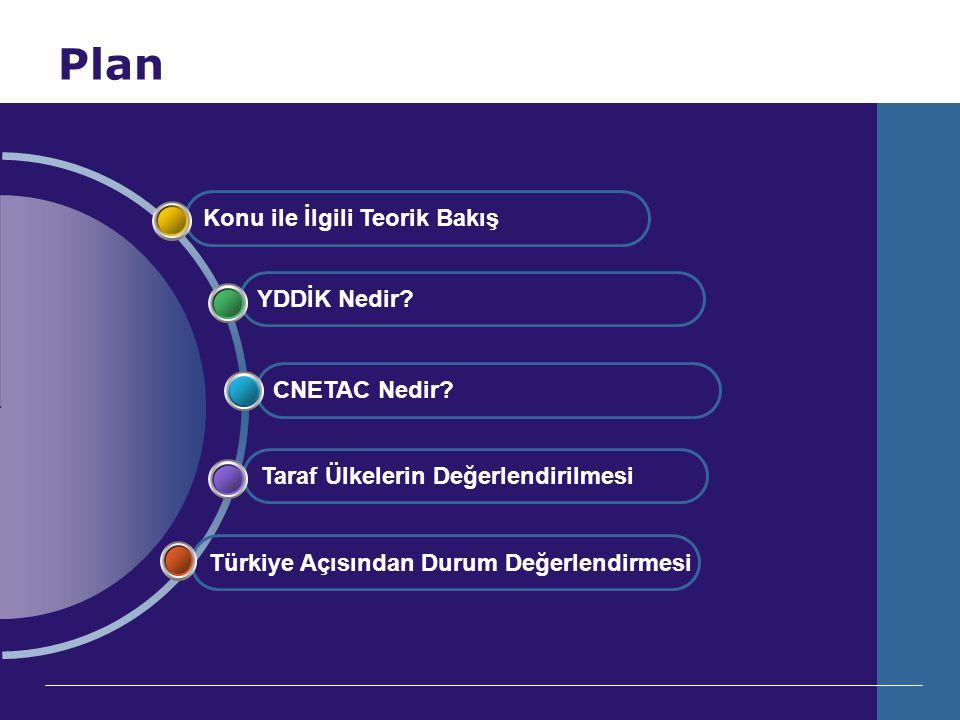 Plan Türkiye Açısından Durum Değerlendirmesi Taraf Ülkelerin Değerlendirilmesi CNETAC Nedir? YDDİK Nedir? Konu ile İlgili Teorik Bakış
