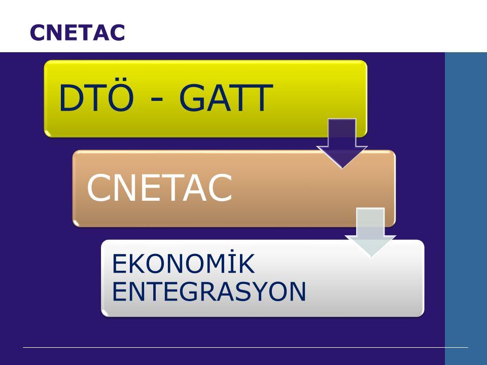 CNETAC DTÖ - GATTCNETAC EKONOMİK ENTEGRASYON