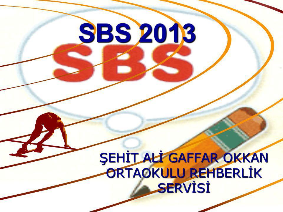 SBS YBP Ayrıca SBS'de yer almayan Görsel Sanatlar, Müzik, Teknoloji ve Tasarım, Beden Eğitimi ile diğer seçmeli derslerden aldığı puanlar burada etkili olacak.