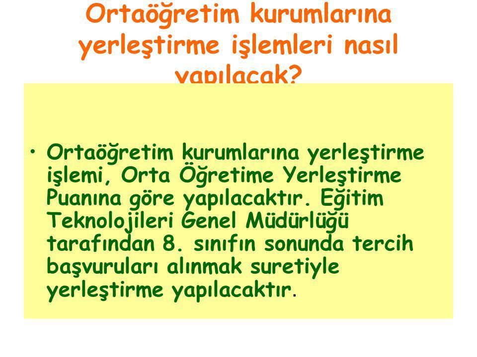 ORTAÖĞRETİME YERLEŞTİRME PUANI (OYP) NASIL BULUNACAK.