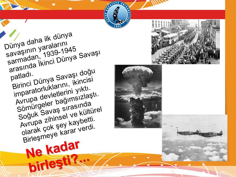 Dünya daha ilk dünya savaşının yaralarını sarmadan, 1939-1945 arasında İkinci Dünya Savaşı patladı.
