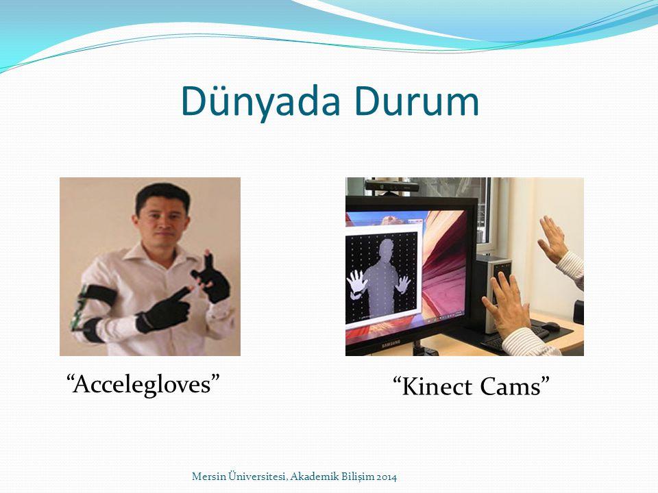 Dünyada Durum Mersin Üniversitesi, Akademik Bilişim 2014 Accelegloves Kinect Cams