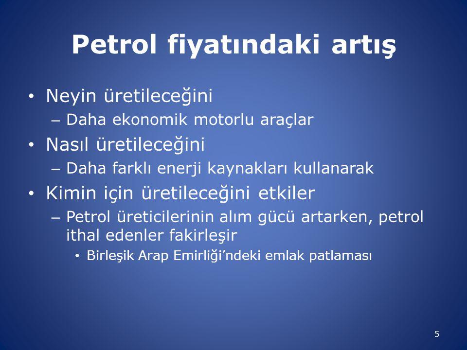 Petrol fiyatındaki artış Neyin üretileceğini – Daha ekonomik motorlu araçlar Nasıl üretileceğini – Daha farklı enerji kaynakları kullanarak Kimin için
