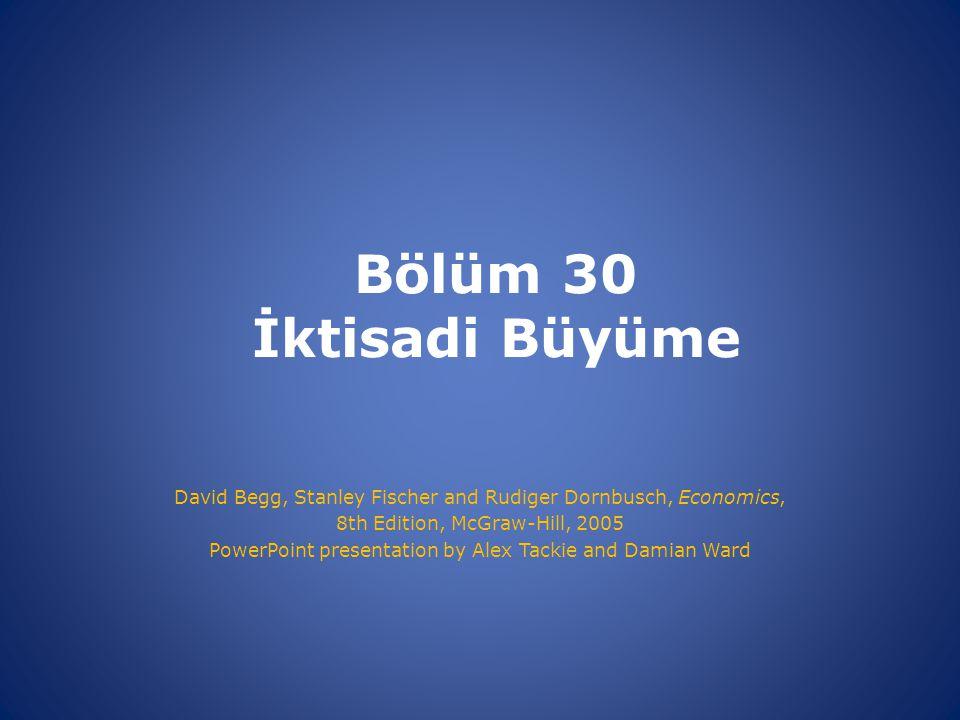 Bölüm 30 İktisadi Büyüme David Begg, Stanley Fischer and Rudiger Dornbusch, Economics, 8th Edition, McGraw-Hill, 2005 PowerPoint presentation by Alex Tackie and Damian Ward