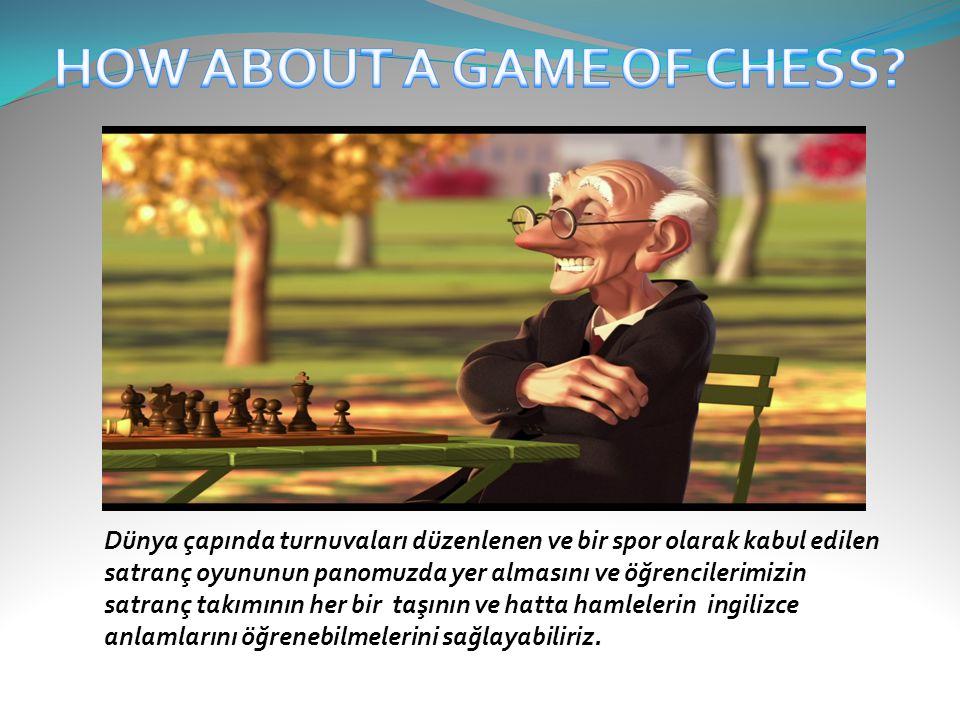Dünya çapında turnuvaları düzenlenen ve bir spor olarak kabul edilen satranç oyununun panomuzda yer almasını ve öğrencilerimizin satranç takımının her