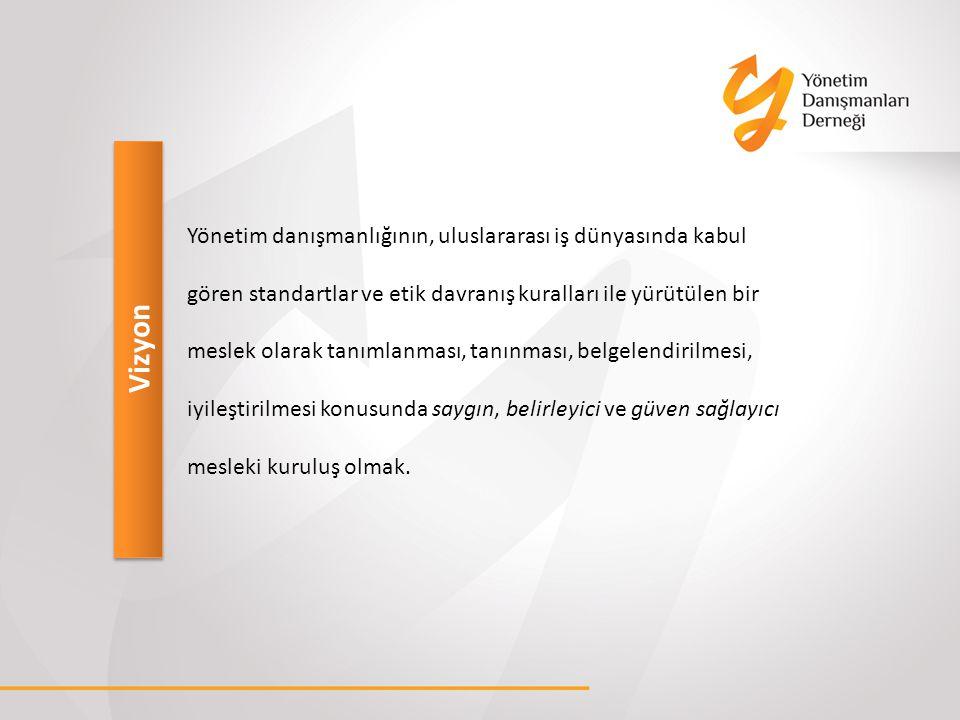Misyon Türkiye de yönetim danışmanlığı yapan kişi ve kuruluşlar arasında; Güç birliği oluşturup mesleki etkinliği arttırmak.