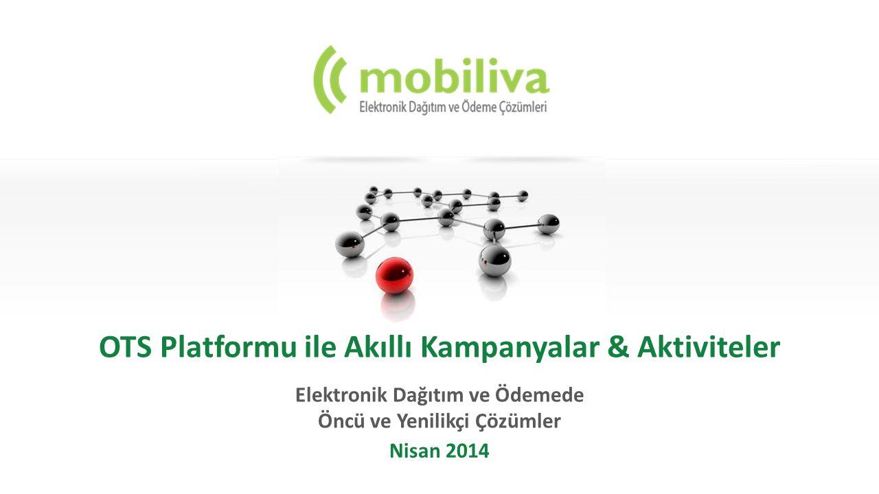 OTS Platformu ile Akıllı Kampanyalar & Aktiviteler Elektronik Dağıtım ve Ödemede Öncü ve Yenilikçi Çözümler Nisan 2014