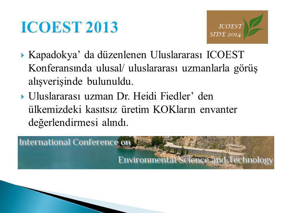  Kapadokya' da düzenlenen Uluslararası ICOEST Konferansında ulusal/ uluslararası uzmanlarla görüş alışverişinde bulunuldu.