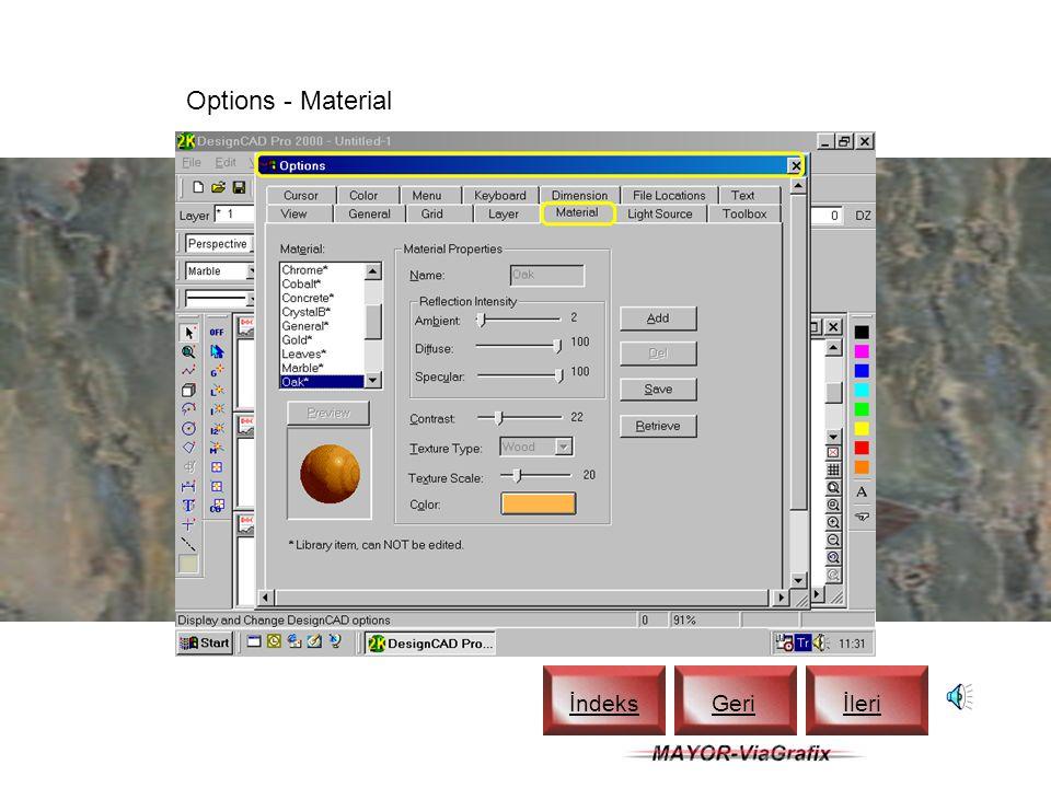 Material Toolbox - Marble İndeks Geriİleri