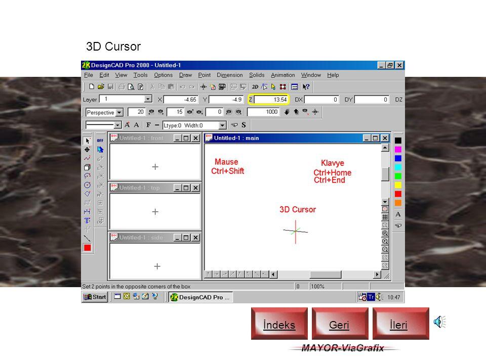 DesignCAD Tile İndeks Geriİleri