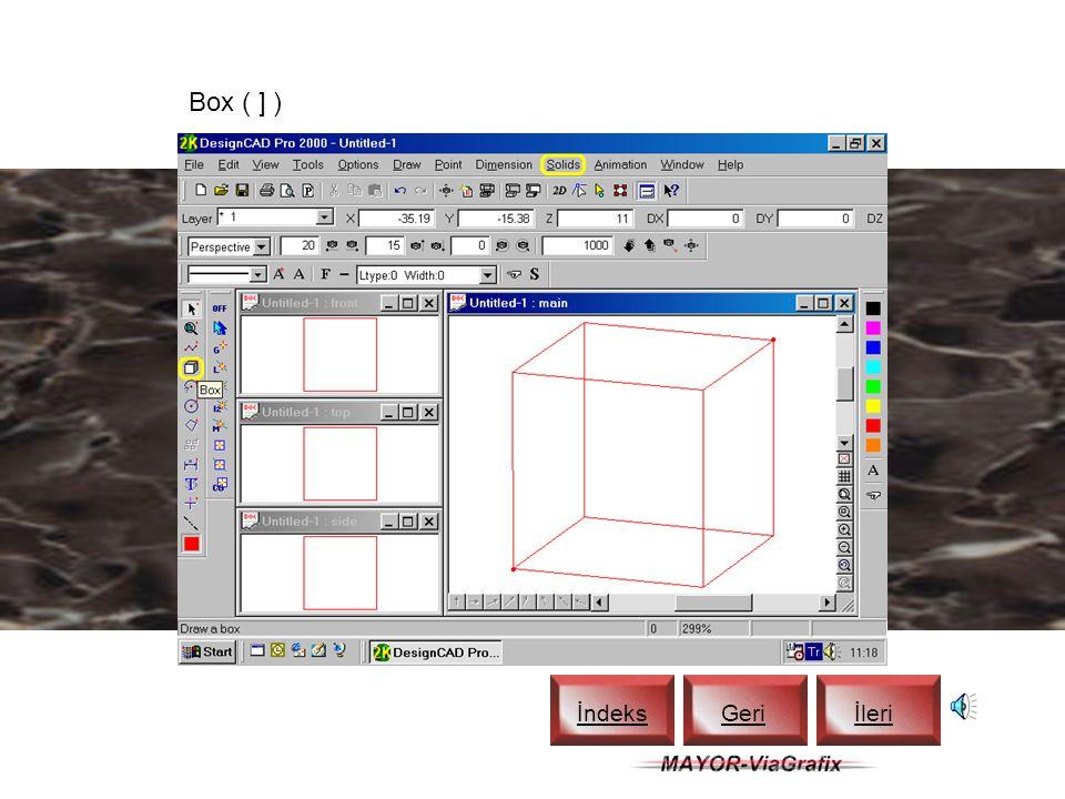3D Cursor İndeks Geriİleri