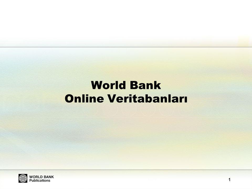 1 World Bank Online Veritabanları