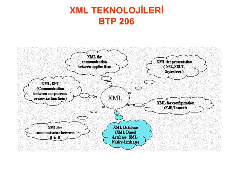 XML TEKNOLOJİLERİ BTP 206