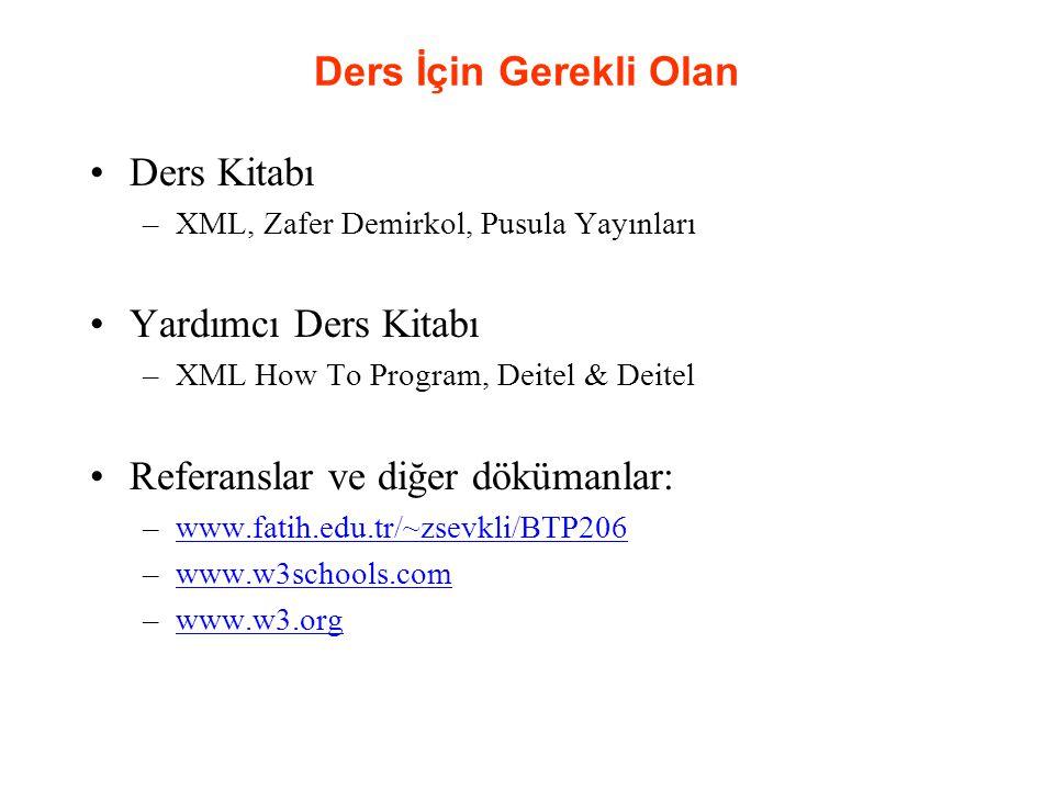 Ders İçeriği 1.Giriş – Marup Dilleri ve XML – Hafta 1 2.